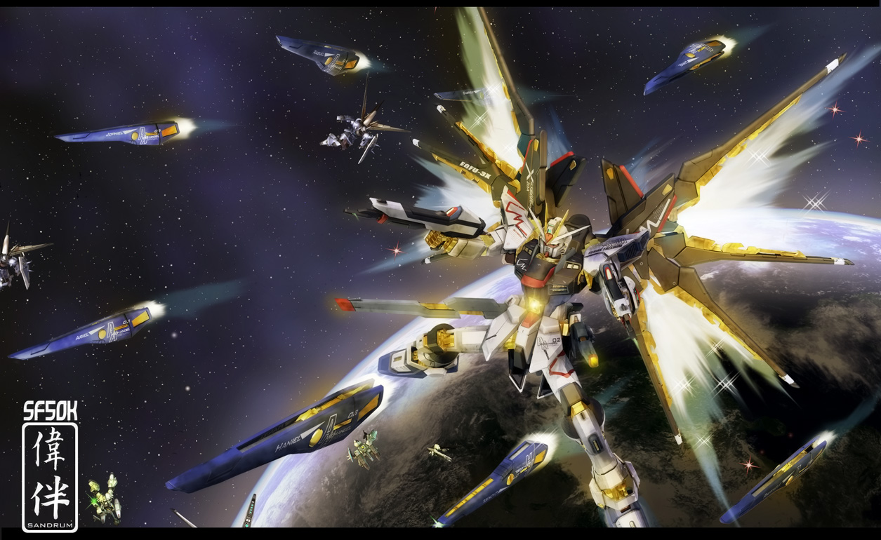 Strike Freedom And Infinite Justice Wallpaper Strike Freedom Mounts Eight